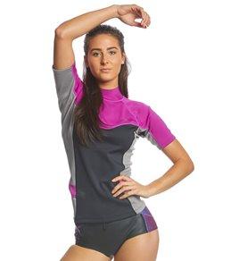 8b37d5c1edc40 Level Six Women's Sombrio Short Sleeve Neoprene Rashguard