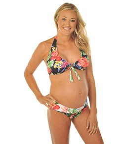 2f5858505aa95 Prego Maternity Hawaiian Roll Waist Bikini Set