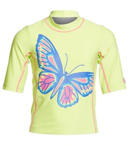 c776839b6 Coolibar Girls' UPF 50 Printed Short Sleeve Surf Shirt