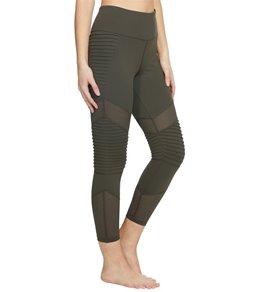 727435932c0748 Betsey Johnson Performance Pintuck & Mesh Panel 7/8 Yoga Leggings
