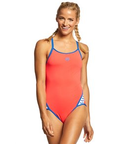 5a87d50541070 Arena Women s Team Stripe MaxLife SuperFly Back One Piece Swimsuit