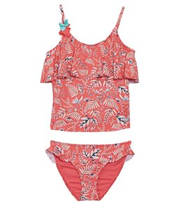 Roxy Girls Vintage Tropical Tankini Swimsuit Set