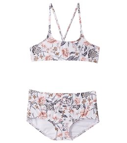 6c33b79bb O Neill Girls  Colleen Bralette Cross Back Bikini Top Swim Set (Big Kid