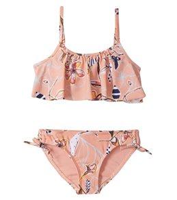 6c50e12ce6004 Roxy Girls' Let's Be Flutter Two Piece Swimwear Set (Toddler, ...