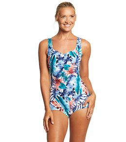 Maxine Palmetto Girl Leg One Piece Swimsuit