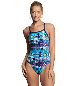 티어 여성 수영복 강습용 원피스 스윔수트 TYR Womens Boca Chica Diamondfit One Piece Swimsuit,Blue