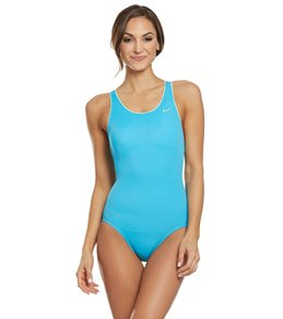 17c4b9a3be Nike Women's Solid Powerback Chlorine Resistant One Piece Swimsuit