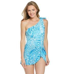 22d58065119ee Coco Reef Contours Cocodrilo Rosaline One Shoulder One Piece Swimsuit (C/D  Cup)