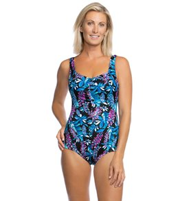 7db799aef2 Maxine Prairie Dreams Chlorine Resistant Shirred Girl Leg One Piece Swimsuit
