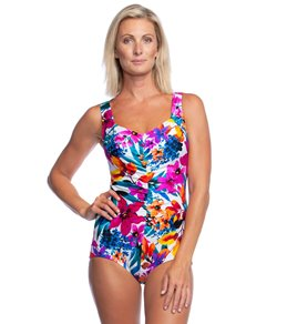 8acc4efd2b Maxine Key West Shirred Girl Leg One Piece Swimsuit Quick view