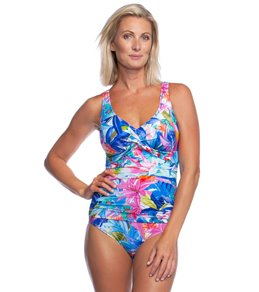 8e74c2daaee Women's Missy Plunge Neck One Piece Swimsuits at SwimOutlet.com