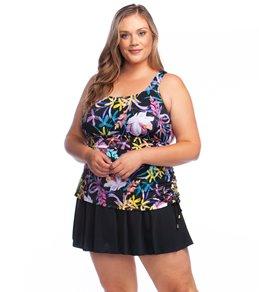 274078c5c7d Maxine Plus Size Gardenia Adjustable Side Swim Dress