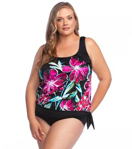 967ba5f37a Maxine Plus Size In Full Bloom Blouson Tankini Top