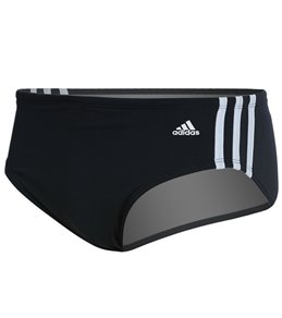 1ec16c6cef673a Adidas Men s 3-Stripe Solid Brief Swimsuit