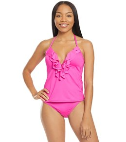 7a1ba9225c1c9 Kenneth Cole Reaction Ruffle-Licious Solid Ruffle Push Up Tankini Top