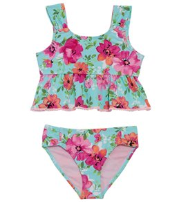 d961fc5d5b16a Hula Star Girls' Princess Floral Two Piece Tankini Set (Toddler, ...