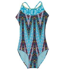 22613faa67 Gossip Girls' Sahara Stripe One Piece Swimsuit (Big ...