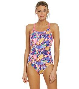 f803888df34 Funkita Women s Bee Bop Diamond Back One Piece Swimsuit