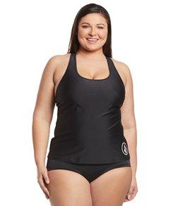 f4138d9aad00f Volcom Plus Size Simply Solid Tankini Bikini Top
