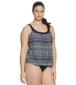 758228a2ebfa3 Coco Reef Plus Size Pacific Stripe Ultra Fit Tankini Top Quick view
