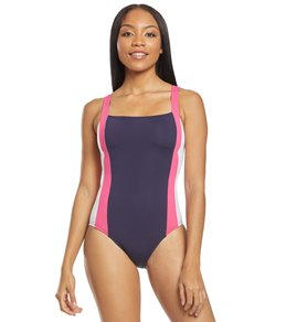12bf8702fb00b Nautica Man Overboard Bandeau One Piece Swimsuit