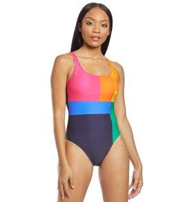 793e6940e0ee42 Nautica Lighthouse Scoop One Piece Swimsuit