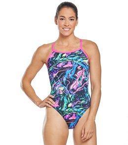 티어 여성 수영복 강습용 원피스 스윔수트 TYR Womens Penello Diamondfit One Piece Swimsuit,Multi