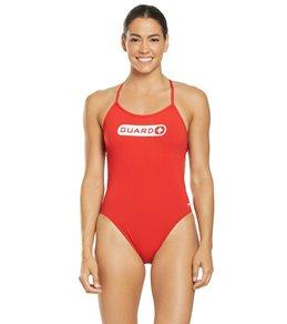 티어 여성 수영복 강습용 원피스 스윔수트 TYR Womens Guard Crosscutfit Tieback One Piece Swimsuit