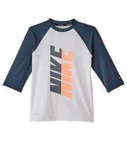 cb8f6619 Nike Girls' Rift 3/4 Sleeve Hydroguard Rash Guard (Big Kid)