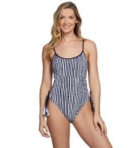 e7f4a9013e861 Anne Cole Don't Smock Me Lace Up One Piece Swimsuit