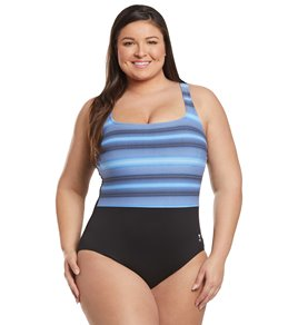 491334620bc TYR Women's Plus Size Byron Bay Scoop Neck Controlfit One Piece Swimsuit