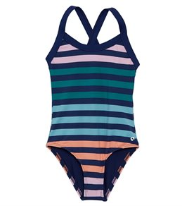c423cb38bb354 Next Girls' Stripe Impact One Piece Swimsuit (Big ...