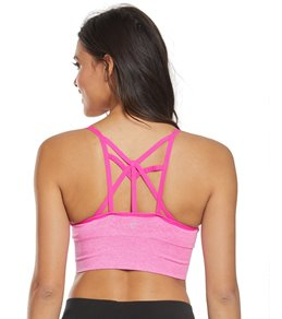 6fba33124 Betsey Johnson Performance Lurex Extended Seamless Yoga Sports Bra
