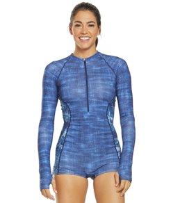 티어 여성 수영복 강습용 원피스 스윔수트 TYR Active Maui Fiona One Piece Swimsuit,Denim