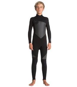 3669d29161 Quiksilver Boys' 4/3mm Syncro Series Back Zip Fullsuit Wetsuit (Big ...