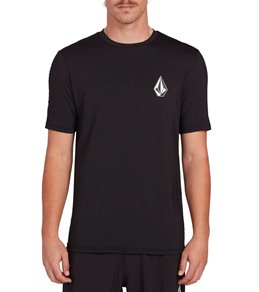 볼컴 Volcom Deadly Stones Short Sleeve Surf Shirt,Black