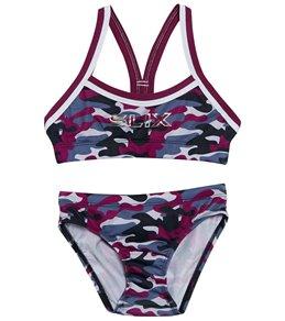 edb4327be8e73 Slix Australia Girls' Berry Camo Training Bikini Set