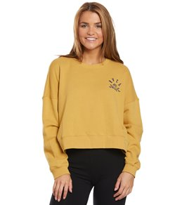 1b147747d33a RVCA Women's Rose State Fleece Pullover Sweater