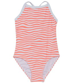 b1bc329cb Snapper Rock Girls' Orange Crush X Back Tie One Piece Swimsuit (Toddler,  Little