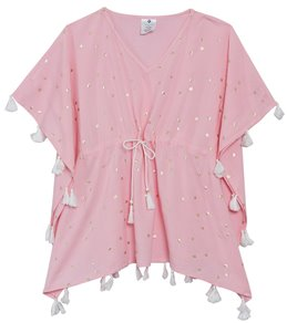 0c344adc61ce8 Snapper Rock Girls' Pink Gold Star Batwing Kaftan (Toddler, Little Kid, Big