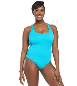 1737d92b94618 Athena Wave After Wave Tank One Piece Swimsuit