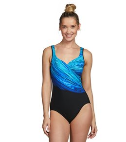 96e0c69d9 Miraclesuit Blue Pointe It s A Wrap One Piece Swimsuit