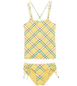 84563574b65d Hobie Check It Out Tankini & Adjustable Hipster Bikini Set (Little Kid, Big  Kid