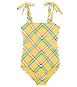 02913a47db Hobie Check It Out One Piece Swimsuit (Little Kid, Big Kid)