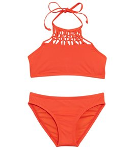 0c1cb6f670 Hobie Solid Macrame Two Piece Bikini Set (Little Kid, Big Kid)