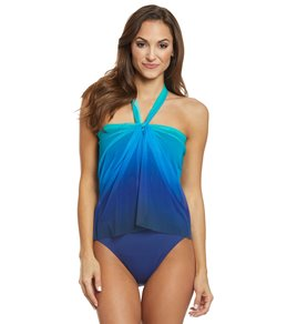 fb0c668e26 Lauren Ralph Lauren Ombre Convertible One Piece Swimsuit