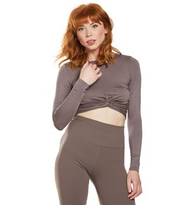 e01f1c15b42964 Beyond Yoga Crossroads Reversible Cropped After Yoga Pullover