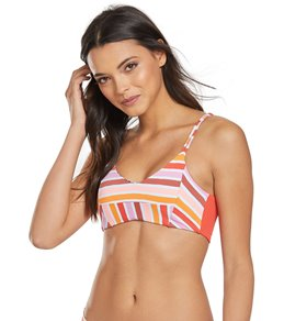 9a743cb396 Maaji Stripes and Straps Reversible Bralette Bikini Top