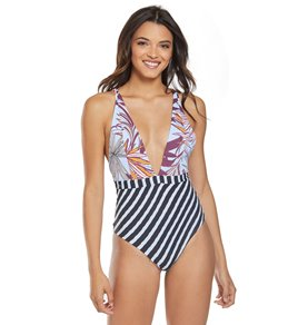 848b40db32d57 Maaji Chromatic Rainbow Plunge One Piece Swimsuit