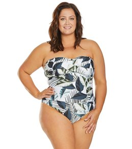 7d137d0aa69 La Blanca Plus Size Moment of Zen Bandeau One Piece Swimsuit